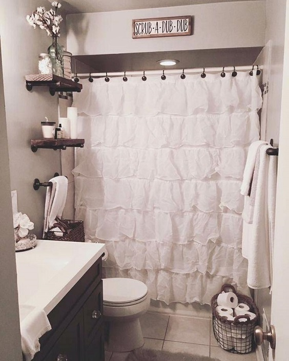 Apartment Bathroom Ideas: Big Metal Basket for Toilet Tissues