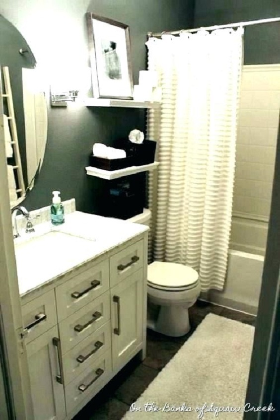 Apartment Bathroom Ideas: Storage with Many Drawers for Bathroom Vanity
