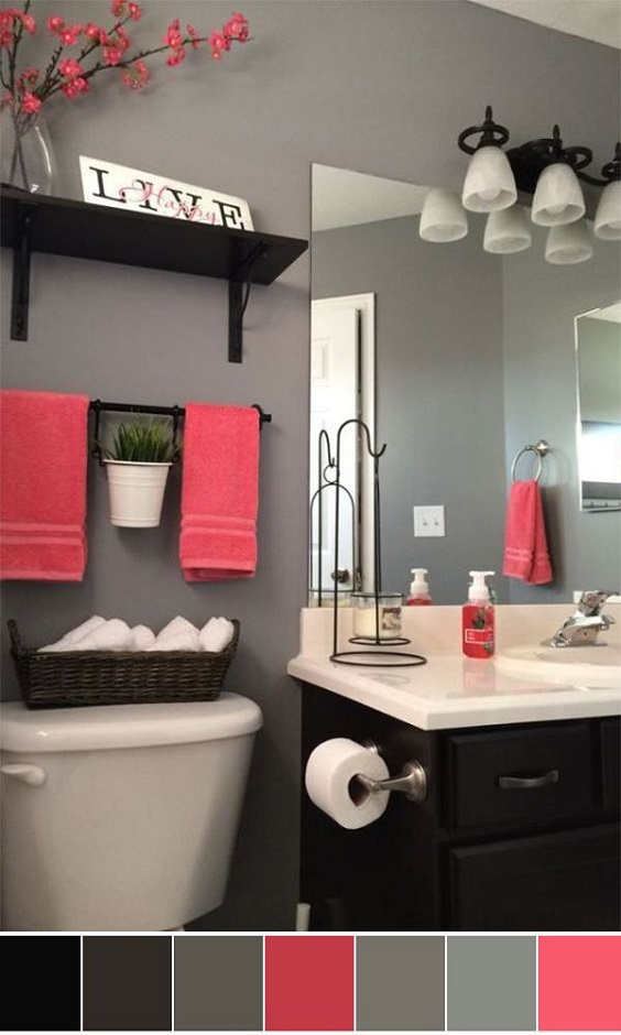 Bathroom Color Ideas: Grey Color for the Wall