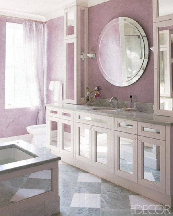 Bathroom Color Ideas: Light Purple