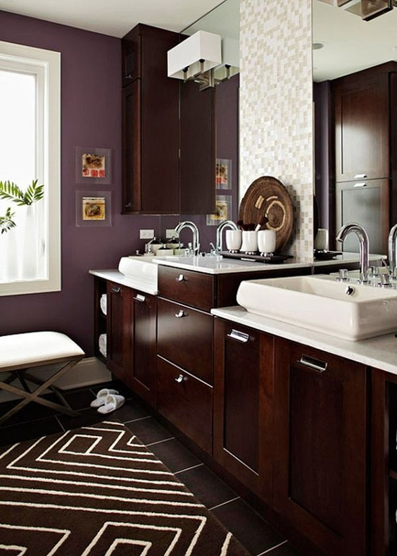 Bathroom Color Ideas: Dark Purple