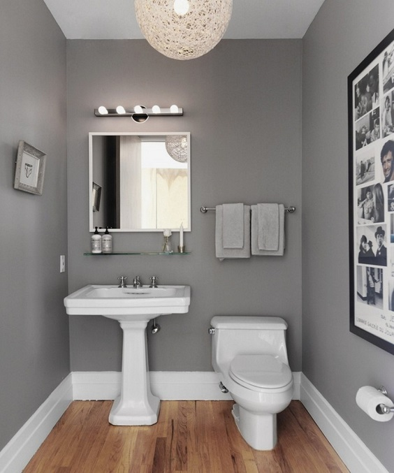 Bathroom Color Ideas: Grey for the Classic Look