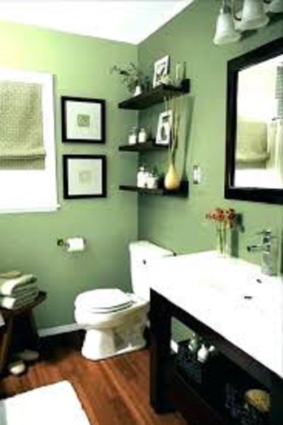 Bathroom Color Ideas: Green
