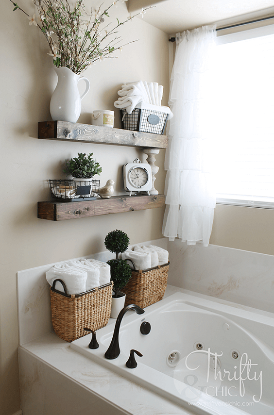 Bathroom Decor Ideas: Earth Tone