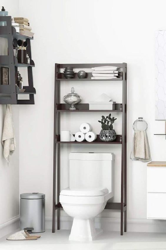 Bathroom Organization Ideas: Tall Stacking Rack