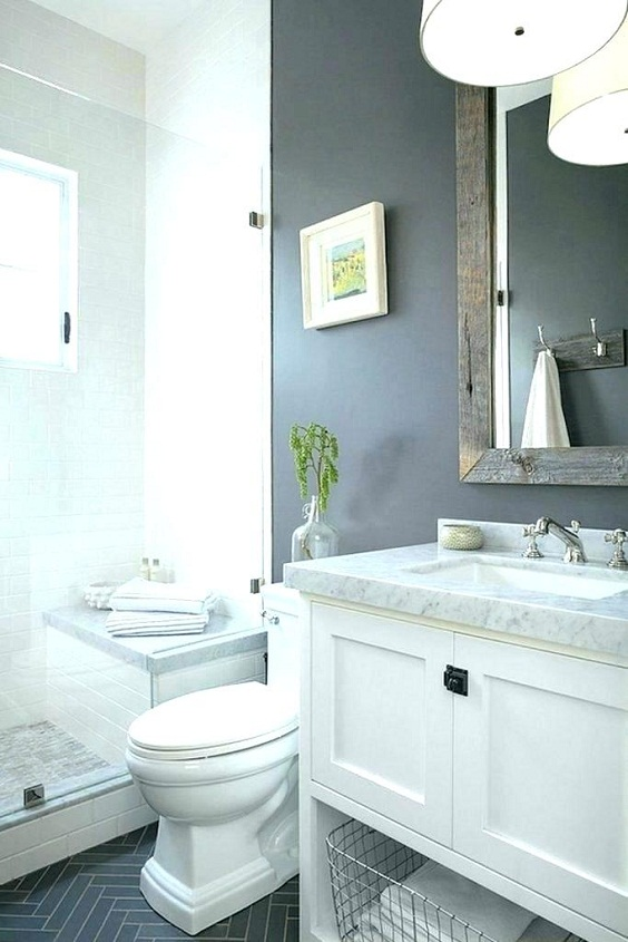 Bathroom Remodel Ideas: Two-Toned Color