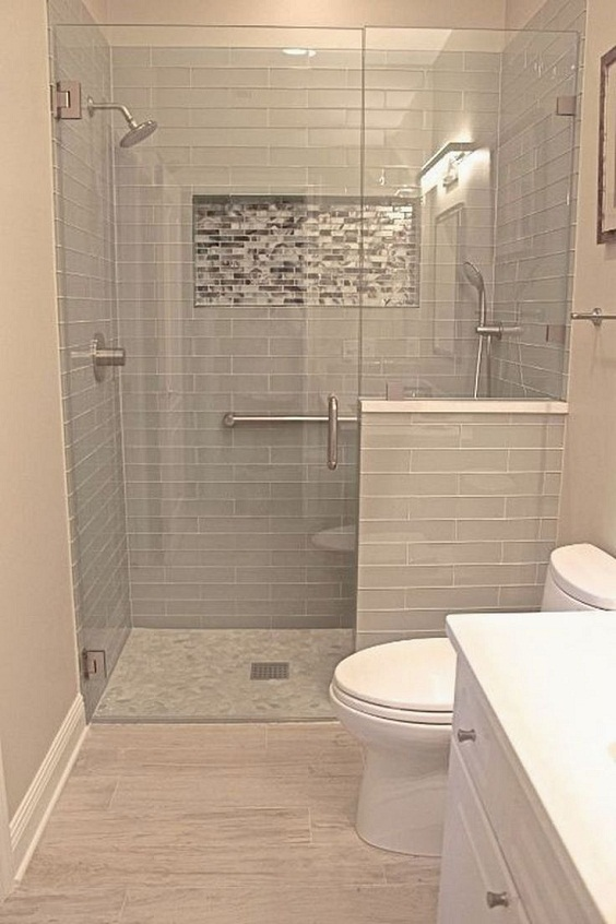 Bathroom Remodel Ideas: Placing New Tiles for Small Part of the Wall