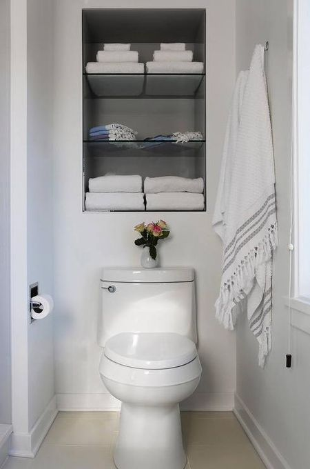 Bathroom Selves Ideas: An Open Cabinet