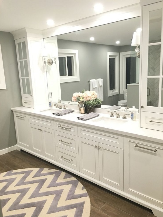 Bathroom Vanity Ideas: Master Bathroom Vanity with Two Sinks
