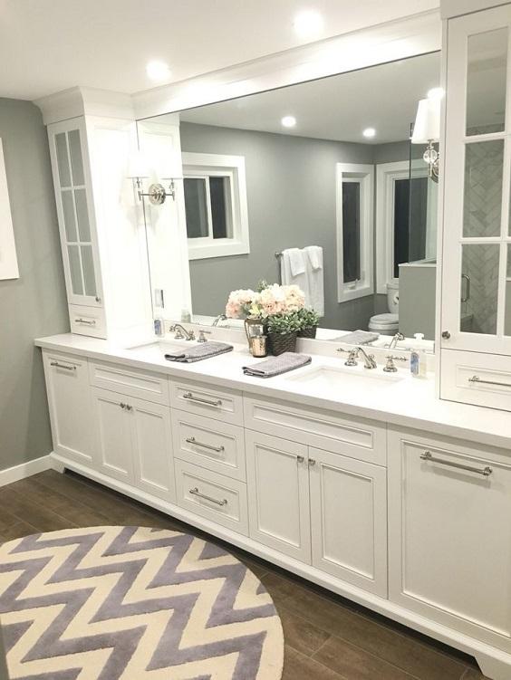 Bathroom Vanity Ideas: Master Bathroom Vanity with Two Sinks