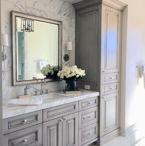 Bathroom Vanity Ideas: Grey Traditional Design