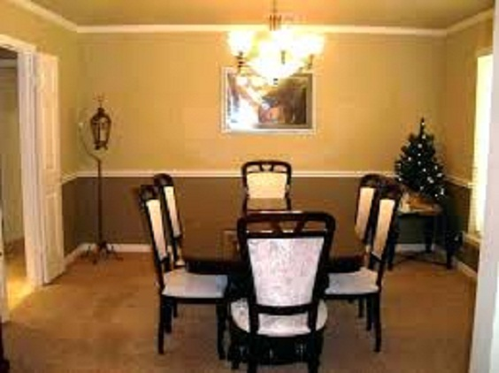 Dining Room Color Ideas: Two Colors for the Paint Wall