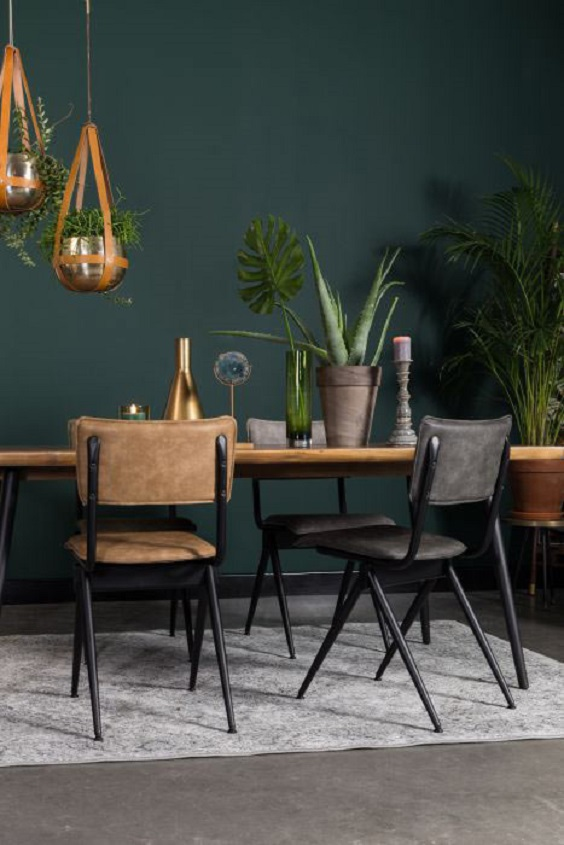 Dining Room Decor Ideas: Many Green Plants for Natural Look