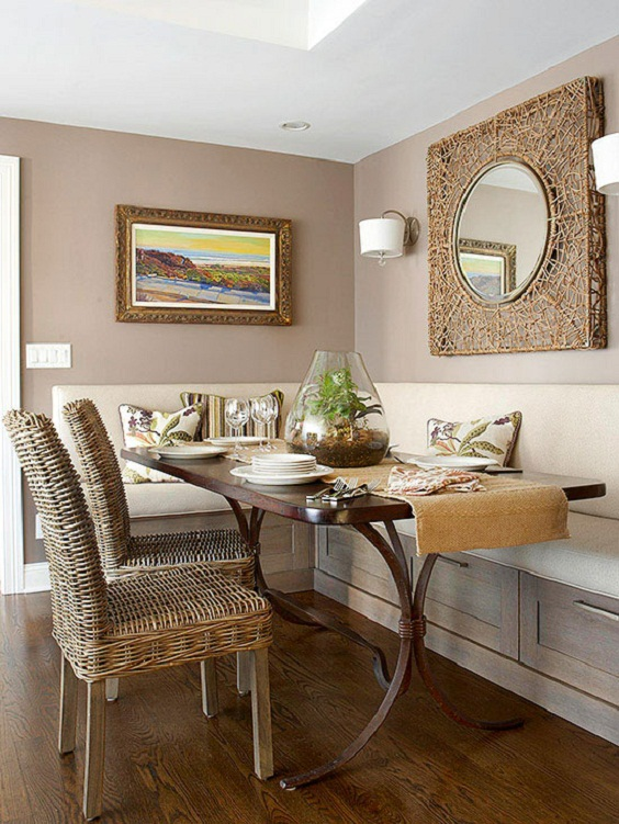Dining Room Color Ideas: White and Cream