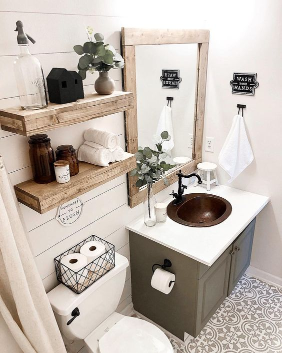 Farmhouse Bathroom Ideas 5
