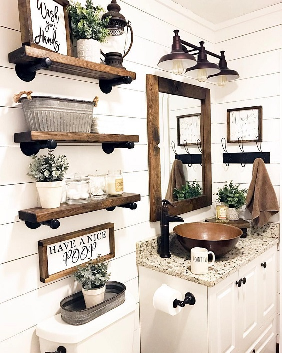 Farmhouse Bathroom Ideas: The Natural Country Look