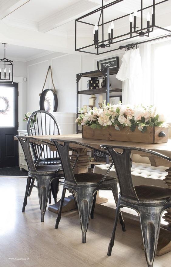 Farmhouse Dining Room Ideas: Modern Farmhouse Look