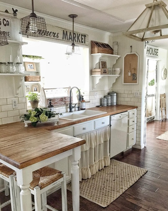 Farmhouse Kitchen Ideas: Creative Ornaments for the Artistic Look