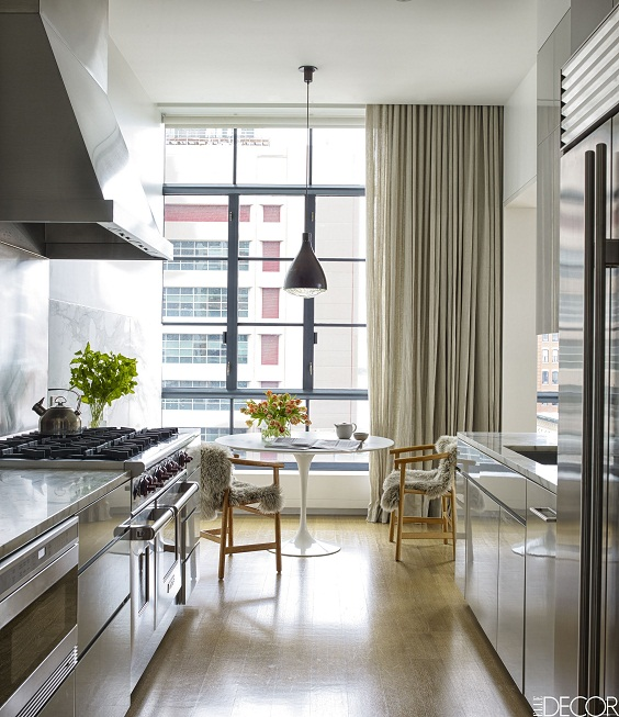 Apartment Kitchen Ideas: Dining Table Facing the Window