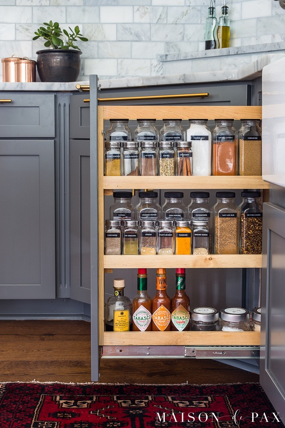 Kitchen Organization Ideas: Organizes Spices