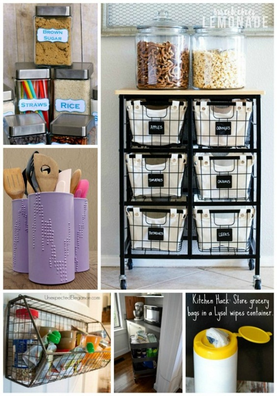 Kitchen Organization Ideas: Big Jars for Snacks