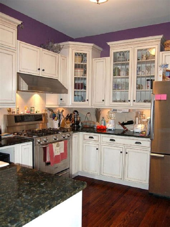 Kitchen Layout Ideas: See-Through Cabinets