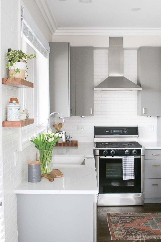 Kitchen Small Ideas: Big Sink with No Dining Table