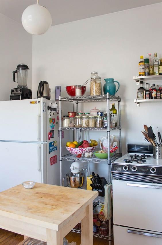 Kitchen Small Ideas: Make Use of Space above the Fridge
