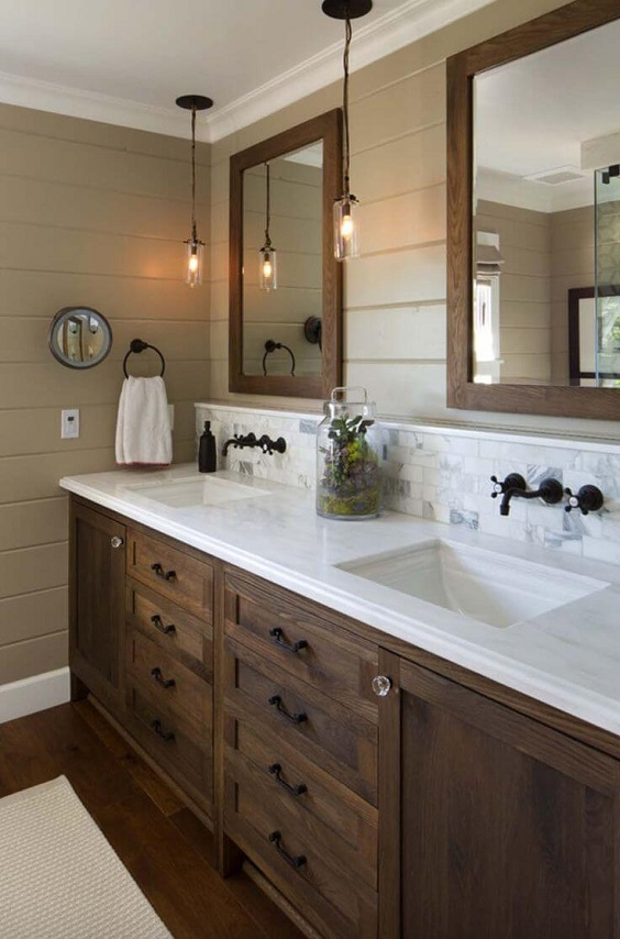 Master Bathroom Ideas: Earthy Bathroom