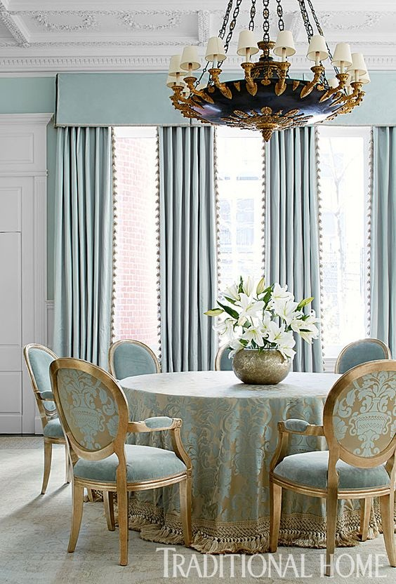 Traditional Dining Room Ideas: Glamorous Color Scheme