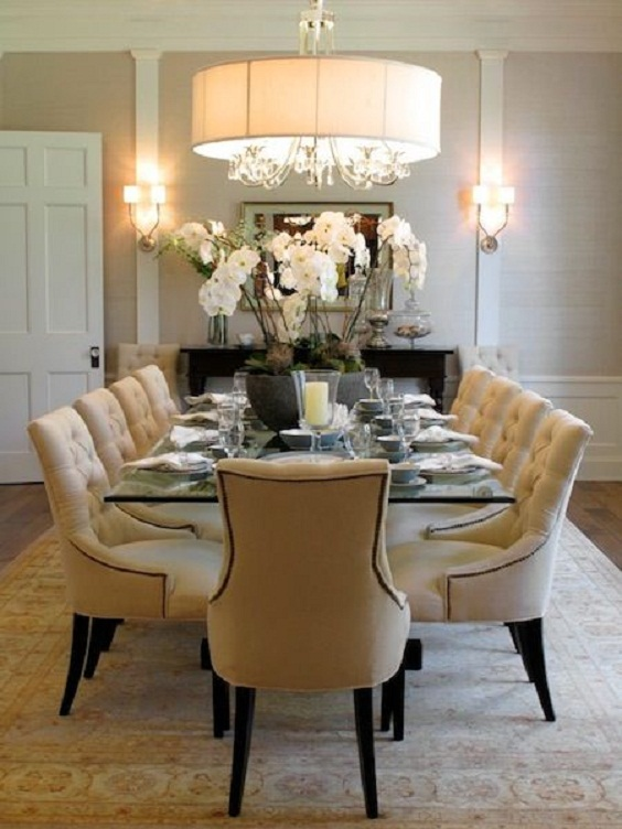 Traditional Dining Room Ideas: Comfy Set of Chairs
