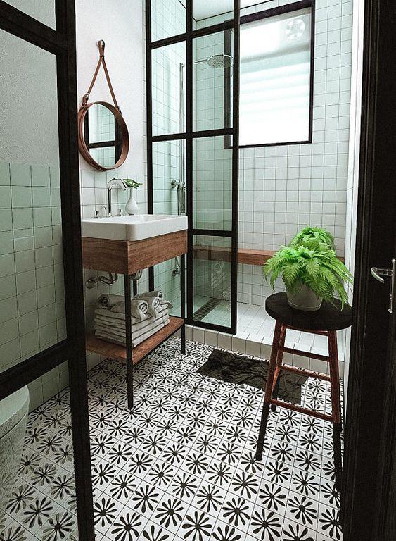 boho bathroom 16