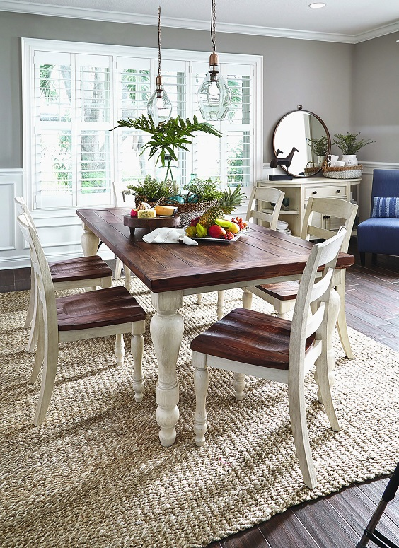 Dining Room Table Ideas: Rustic Farmhouse Dining Table