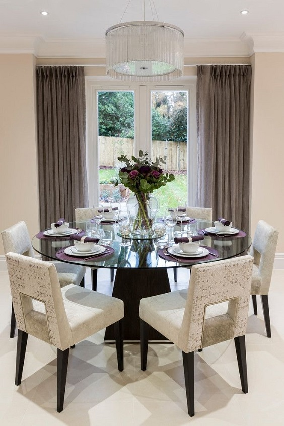 Dining Room Table Ideas: Glass Round Dining Table