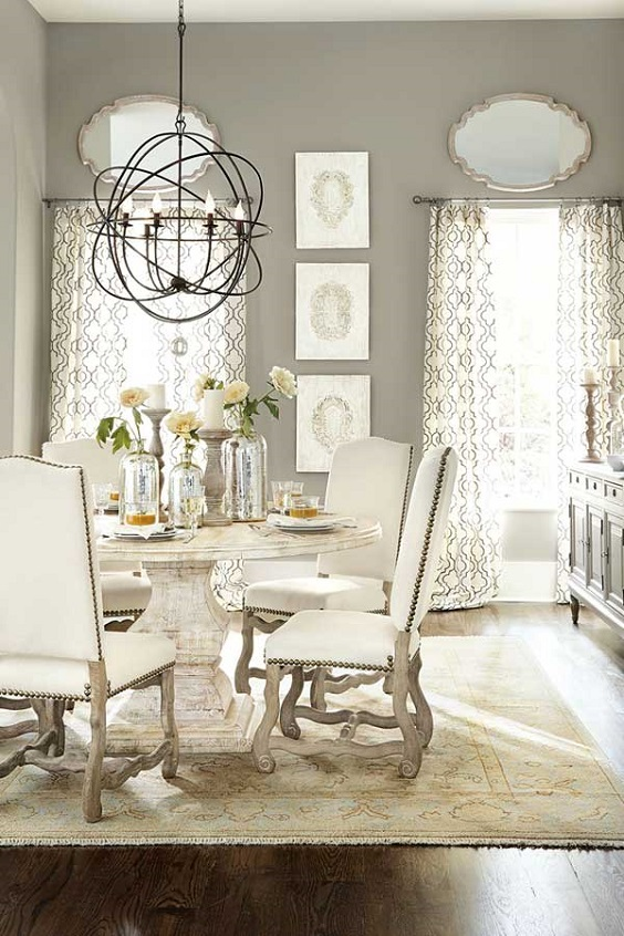 Dining Room Table Ideas: Round Rustic Table