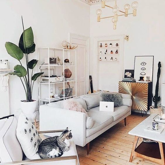 eclectic living room 13