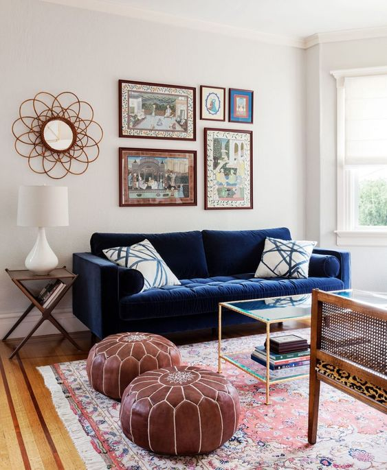 eclectic living room 17