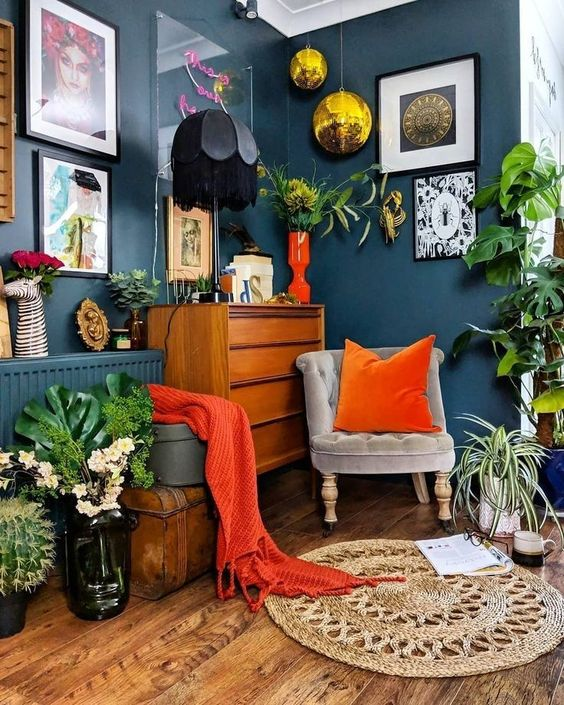 eclectic living room 18