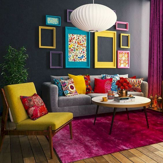 Eclectic Living Room: Stunning Colorful Decor