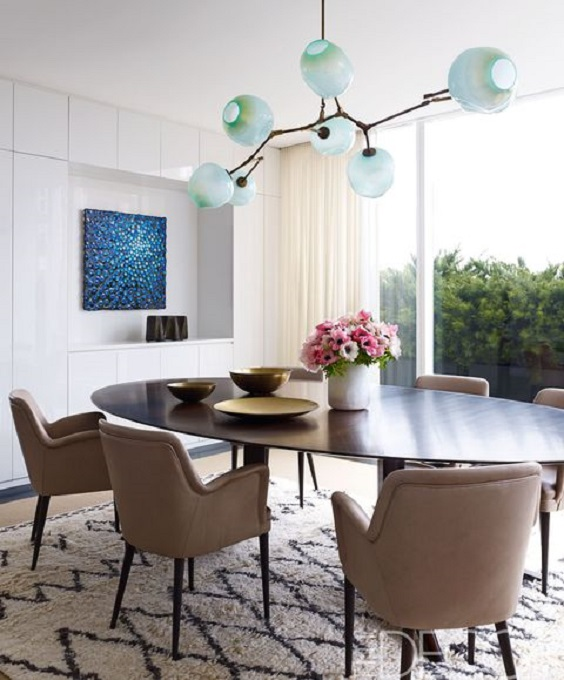 Modern Dining Room Ideas: Nice Choice of Colors and ...