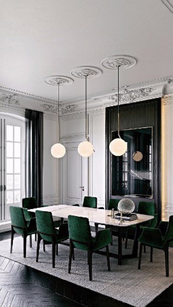 Modern Dining Room Ideas: Additional Green Tone