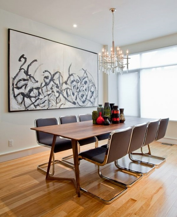 Modern Dining Room Ideas: Combination of Wood and Metal
