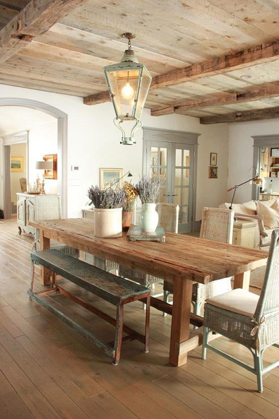 Rustic Dining Room Ideas: Brown Color Scheme
