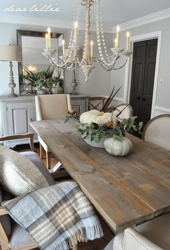 Rustic Dining Room Ideas: Grey Color Scheme