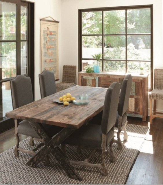 Rustic Dining Room Ideas: Calm and Airy Room