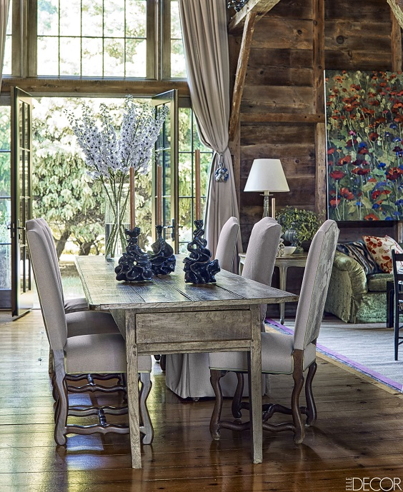 Rustic Dining Room Ideas: Rustic Dark wood Dining Set