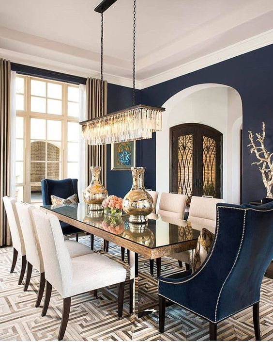Transitional Dining Room: Glam Elegant Decor