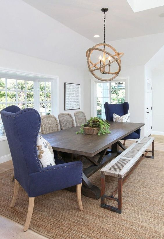 Transitional Dining Room: Bold Rustic Decor