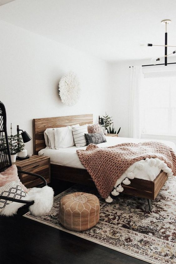 White Bedroom Ideas: Earthy Monochrome Decor