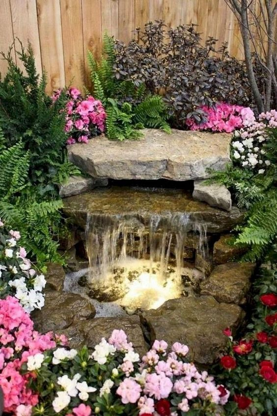 Backyard Landscaping Ideas: Gorgeous Rocky Waterfall